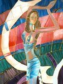 selyemfest�s - akvarell - selyemfest�s tanfolyam